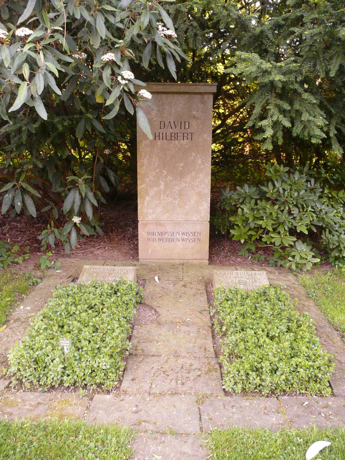 Hilbert epitafio
